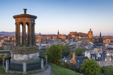 Dawn Breaks over the Dugald Stewart Monument Overlooking the City of Edinburgh, Lothian, Scotland Photographic Print by Andrew Sproule