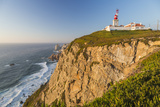The Cabo Da Roca Lighthouse Overlooks the Promontory Towards the Atlantic Ocean at Sunset, Sintra Photographic Print by Roberto Moiola