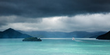 Queen Charlotte Sound with a Ferry Boat Navigating its Way Through to Cook Straits Photographic Print by Garry Ridsdale