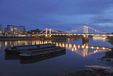 The Chelsea Bridge in London During Blue Hour, London, England Photographic Print by David Bank
