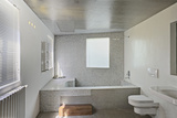 Built in Tiled Bathtub in Modern Bathroom Photo by Michael Freeman