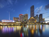 Melbourne Southbank Skyline, Eureka Tower and Hamer Hall over the Yarra River at Twilight Photographic Print by Cahir Davitt
