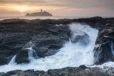 Coastal Cliffs, Godrevy Point, Nr St Ives, Cornwall, England Photographic Print by Paul Harris