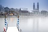 Switzerland, Zurich. Zurich Historic Quarter over the Limmat River. Photographic Print by Ken Scicluna