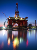 Europe, Maltese Islands, Malta. an Oil Rig at the Ship Repairing Site. Photographic Print by Ken Scicluna