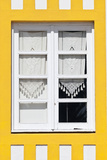 Window Detail of a Yellow Painted Beach House in Costa Nova, Beira Litoral, Portugal Photo by Julian Castle