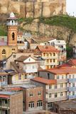 Eurasia, Caucasus Region, Georgia, Tbilisi, Old Town and Minaret of Tbilisi Mosque Photographic Print by Christian Kober