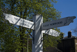 Signpost Showing the Way to North Dulwich Station Camberwell and West Norwood England Photo by Natalie Tepper