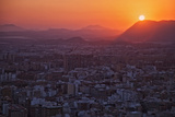 Sunset View over the Cityscape of Alicante Looking Towards Sierra De Fontcalent Photographic Print by Cahir Davitt