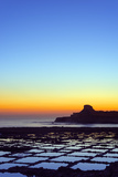 Mediterranean Europe, Malta, Gozo Island, Salt Pans at Sunrise, Xwejni Bay Photographic Print by Christian Kober