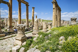 Jordan, Jerash. a Section of the Cardo of the Ancient Roman City of Jerash. Photographic Print by Nigel Pavitt