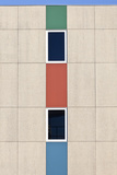 Abstracted Exterior Wall Detail of Student Housing De Uithof Campus Netherlands Photo by Julian Castle