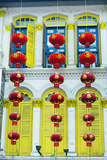 South East Asia, Singapore, Chinatown, Shutters on Colonial Building Photographic Print by Christian Kober
