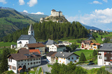 Europe, Switzerland, Graubunden, Engadine, Scuol Tarasp, Scuol Castle, (Schloss Tarasp) Photographic Print by Christian Kober