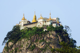 South East Asia, Myanmar, Mt Popa, Buddhist Temple on Popa Taung Kalat Photographic Print by Christian Kober
