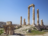 Jordan, Amman, the Citadel. the Ruins of the Temple of Hercules Photographic Print by Nigel Pavitt