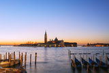 Europe, Italy, Veneto, Venice, San Giorgio Maggiore Church across Basino Di San , Sunrise Photographic Print by Christian Kober