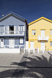 Candy-Striped Painted Beach Houses in Costa Nova, Beira Litoral, Portugal Photo by Julian Castle