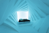 Arctic Circle, Lapland, Scandinavia, Sweden, Kiruna, Ice Hotel (Jukkasjarvi) Bedroom Photographic Print by Christian Kober
