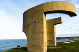 Eulogy of the Horizon by Eduardo Chillida Public Monument in Gijon City Asturias Spain Photographic Print by Carlos Sanchez Pereyra
