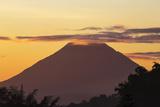 Indonesia, Flores Island, Bajawa. Ebulobo Volcano at Sunrise. Photographic Print by Nigel Pavitt
