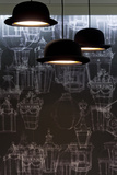 Bowler Hats as Light Fittings Photo by David Barbour