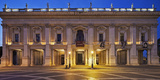 The Palazzo Nuovo of the Capitoline Museums, on the Piazza Del Campidoglio at Night, Rome Photographic Print by Cahir Davitt