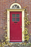 A Traditional Doorway in Autumn Colours, Old Town Utrecht, Netherlands Photo by Julian Castle