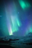 Iceland, Fjallsarlon. the Northern Lights Appearing in the Sky at Fjallsarlon Fotografisk trykk av Katie Garrod