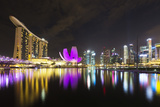 South East Asia, Singapore, Marina Bay Sands and Art Science Museum Photographic Print by Christian Kober
