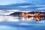 Uk, Scotland, Argyll and Bute, Oban. the Port of Oban During the Last Light of the Day. Photographic Print by Ken Scicluna