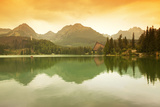 Slovakia, Carpathian Mountains, High Tatra. the Strbske Pleso Lake Photographic Print by Ken Scicluna