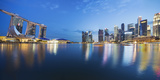 The Fullerton Hotel and Singapore Skyline, Downtown Core Photographic Print by Cahir Davitt