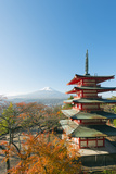 Asia, Japan, Honshu, Mt Fuji 3776M, Arakura Sengen Jinja, UNESCO World Heritage Site Photographic Print by Christian Kober