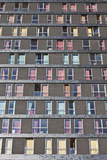 Abstract Exterior Facade of Student Residential High-Rise De Uithof Campus Netherlands Photo by Julian Castle