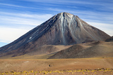 Chile, Atacama Desert, Altiplano, Antofagasta Region, El Loa Province. the Strato-Volcano Licanabur Photographic Print by Nigel Pavitt