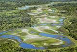 Brazil, Pantanal, Mato Grosso Do Sul. an Aerial View of a Section of the Pantanal Impressão fotográfica por Nigel Pavitt