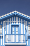 A Blue Candy-Striped Beach House in Costa Nova, Beira Litoral, Portugal Photo by Julian Castle