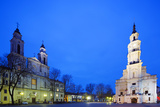 Europe, Baltic States, Lithuania, Kaunas, Church of St. Francis Xavier and Town Hall of Kaunas Photographic Print by Christian Kober