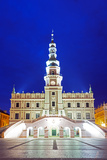Europe, Poland, Zamosc, Rynek Wielki, Old Town Square, Town Hall, Unesco Photographic Print by Christian Kober