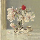 Magnolia and Red Tulip Giclee Print by Valeriy Chuikov