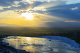 Turkey, Western Anatolia, Pamukkale, UNESCO Site, White Travertine Basins Photographic Print by Christian Kober