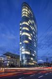 The Landmark Eliptical Commercial Office Building Gap at Graf Adolf Platz in Dusseldorf Photographic Print by Cahir Davitt
