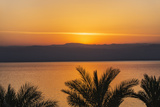 Jordan, Dead Sea. Sunset over the Dead Sea with the Mountains of Israel Beyond. Photographic Print by Nigel Pavitt