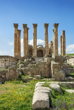 Jordan, Jerash. the Ruins of the Sacred Temple of Artemis in the Ancient Roman City of Jerash. Photographic Print by Nigel Pavitt