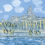The Sacre Coeur from the Musee d'Orsay Giclee Print by Alan Halliday