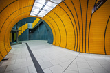 The Exit of the Odeanspaltz U-Bahn Station in Altstadt - Lehel, Munich, Bavaria, Germany. Photographic Print by Cahir Davitt