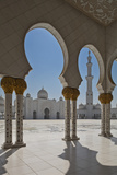 Internal View of the Arcade of the Sheikh Zayed Mosque, Al Maqta District of Abu Dhabi, Abu Dhabi Photographic Print by Cahir Davitt