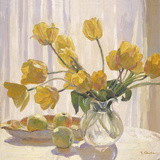 Yellow Tulips and Apples Giclee Print by Valeri Chuikov