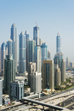 Middle East, United Arab Emirates, Dubai, Dubai Marina Buildings Photographic Print by Christian Kober